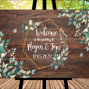 Welcome Wedding Sign 1 - Dark